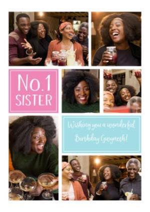 Greeting Cards - Birthday Card - Photo Upload Card - No.1 Sister - Image 1