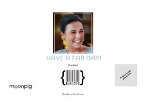 Greeting Cards - Birthday Photo Upload Card - Happy birthday to my fab sister! - Image 4