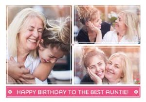 Greeting Cards - Birthday Card - Photo Upload Card - The Best Auntie - Image 1