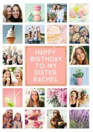 Greeting Cards - Birthday Card - Photo Upload Card - 20 Photos - Sister - Image 1