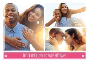 Greeting Cards - Birthday Card - Photo Upload Card - The One I Love - Image 1