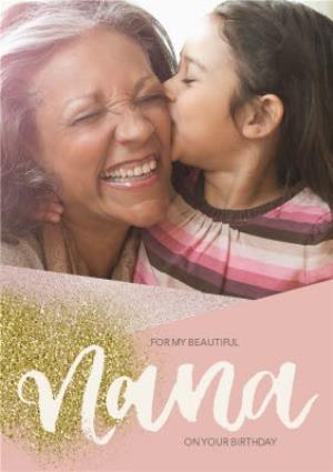 Greeting Cards - Birthday photo upload Card - For my Beautiful Nana - Image 1