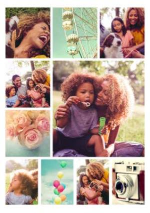 Greeting Cards - 10 Photo Upload personalised Mum card with optional photos - Image 1
