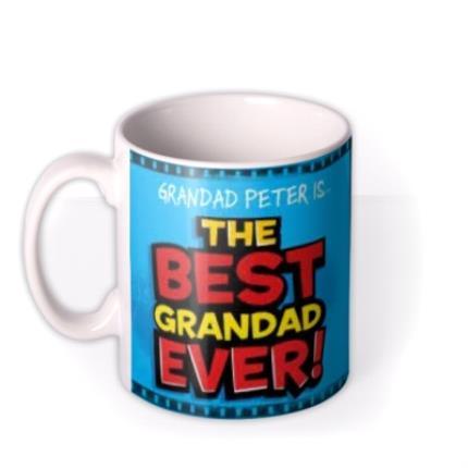 Mugs - Father's Day Best Grandad Ever Photo Upload Mug - Image 1