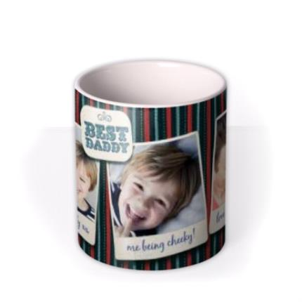 Mugs - Father's Day Best Daddy 3 Photo Upload Mug - Image 3