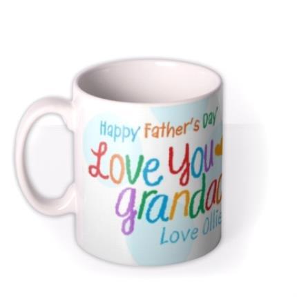 Mugs - Father's Day Grandad Crayon Photo Upload Mug - Image 1