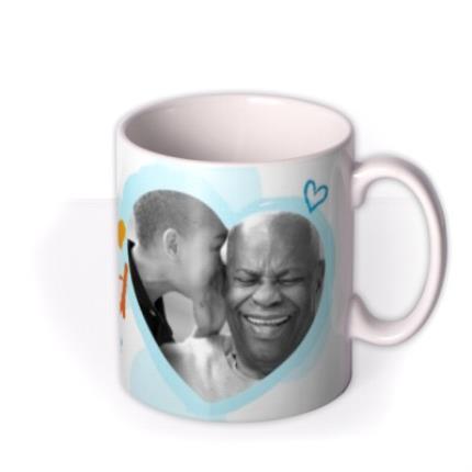 Mugs - Father's Day Grandad Crayon Photo Upload Mug - Image 2
