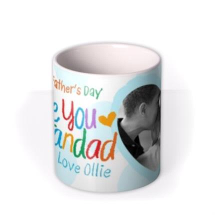 Mugs - Father's Day Grandad Crayon Photo Upload Mug - Image 3