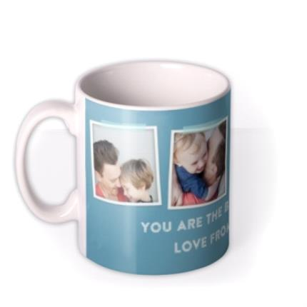 Mugs - Father's Day Blue Photo Upload Mug - Image 1