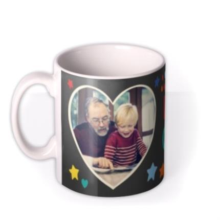 Mugs - Father's Day Grandad Heart Photo Upload Mug - Image 1