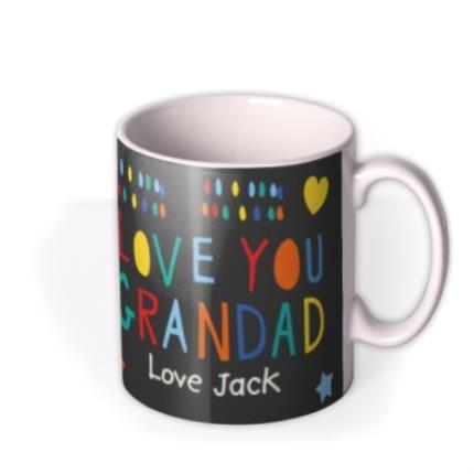 Mugs - Father's Day Grandad Heart Photo Upload Mug - Image 2