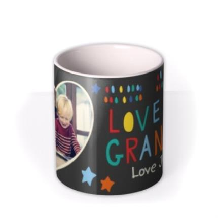 Mugs - Father's Day Grandad Heart Photo Upload Mug - Image 3