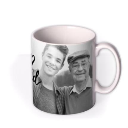 Mugs - Love You Grandad Black And White Photo Upload Mug - Image 2