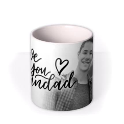 Mugs - Love You Grandad Black And White Photo Upload Mug - Image 3