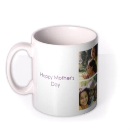 Mugs - 6 Photo Upload Personalised Happy Mother's Day Mug - Image 1