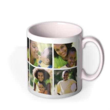 Mugs - 6 Photo Upload Personalised Happy Mother's Day Mug - Image 2