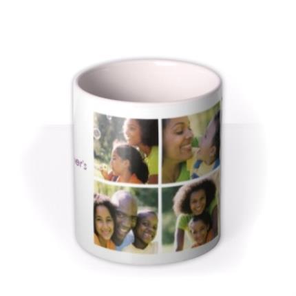 Mugs - 6 Photo Upload Personalised Happy Mother's Day Mug - Image 3