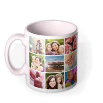 Mugs - Mother's Day 18 Collage Photo Upload Mug - Image 1