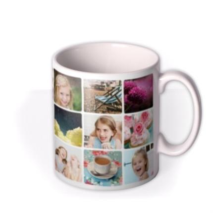 Mugs - Mother's Day 18 Collage Photo Upload Mug - Image 2