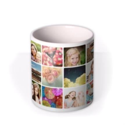 Mugs - Mother's Day 18 Collage Photo Upload Mug - Image 3