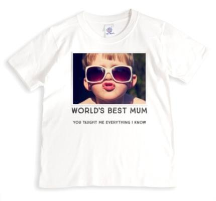 T-Shirts - Mother's Day World's Best Photo Upload T-shirt - Image 1