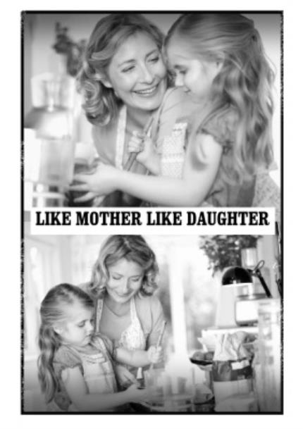 T-Shirts - Mother's Day Like Daughter Photo Upload T-shirt - Image 4