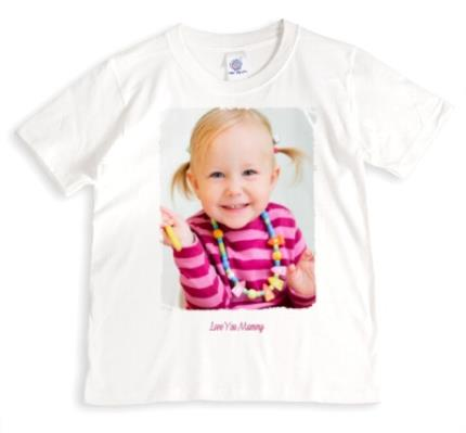 T-Shirts - Mother's Day Love You Mummy Photo Upload T-Shirt - Image 1