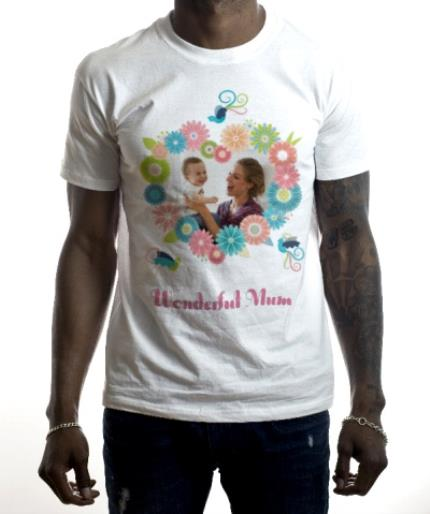 T-Shirts - Mother's Day Wonderful Photo Upload T-shirt - Image 2