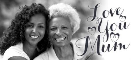 Mugs - Mother's Day Calligraphy Hearts Photo Upload Mug - Image 4