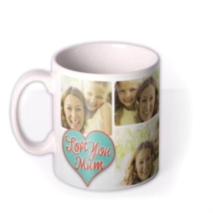 Mugs - Mother's Day Love Collage 5 Photo Upload Mug - Image 1