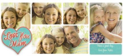 Mugs - Mother's Day Love Collage 5 Photo Upload Mug - Image 4