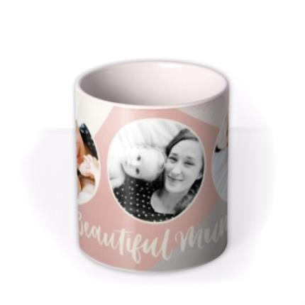 Mugs - Gold Glitter Beautiful Mum Multi-Photo Mug - Image 3