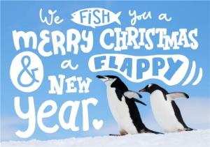 Greeting Cards - A Flappy New Year Penguin Christmas Card - Image 1