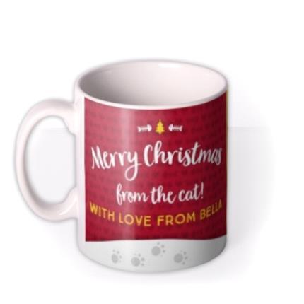 Mugs - Merry Christmas From Cat Photo Upload Mug - Image 1