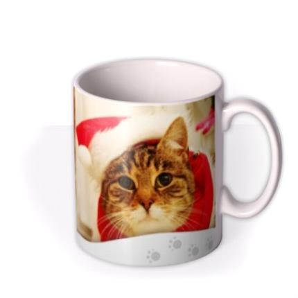 Mugs - Merry Christmas From Cat Photo Upload Mug - Image 2