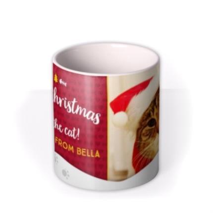 Mugs - Merry Christmas From Cat Photo Upload Mug - Image 3