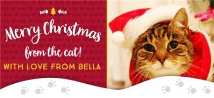 Mugs - Merry Christmas From Cat Photo Upload Mug - Image 4