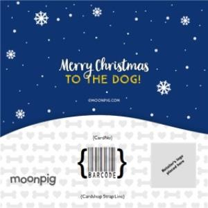 Greeting Cards - Merry Christmas To The Dog Photo Upload Card - Image 4