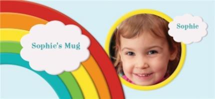 Mugs - Rainbow Photo Upload Mug - Image 4