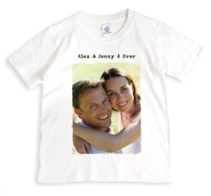 T-Shirts - Rough Edged Rectangle Photo Upload T-Shirt - Image 1