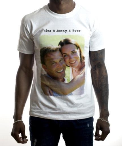 T-Shirts - Rough Edged Rectangle Photo Upload T-Shirt - Image 2