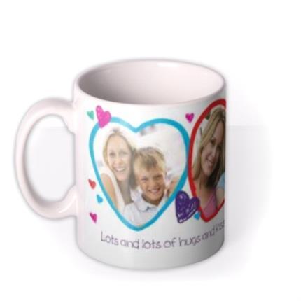 Mugs - Valentine's Day 3 Heart Love You Mummy Photo Upload Mug - Image 1