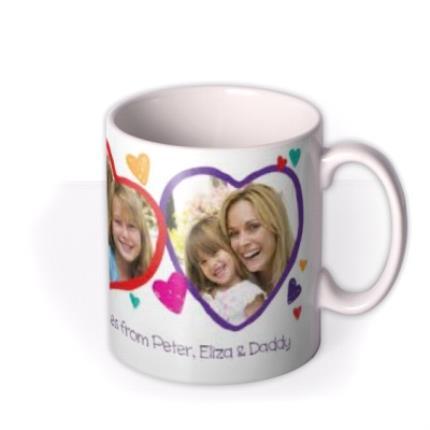 Mugs - Valentine's Day 3 Heart Love You Mummy Photo Upload Mug - Image 2