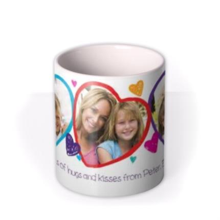 Mugs - Valentine's Day 3 Heart Love You Mummy Photo Upload Mug - Image 3
