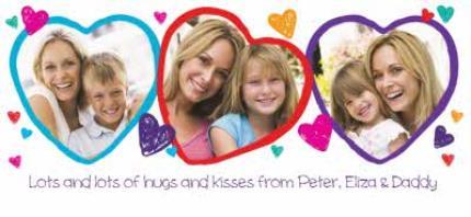 Mugs - Valentine's Day 3 Heart Love You Mummy Photo Upload Mug - Image 4