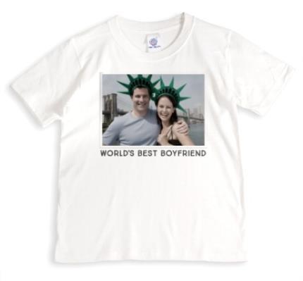 T-Shirts - World's Best Boyfriend Photo Upload T-Shirt - Image 1