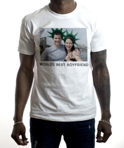 T-Shirts - World's Best Boyfriend Photo Upload T-Shirt - Image 2