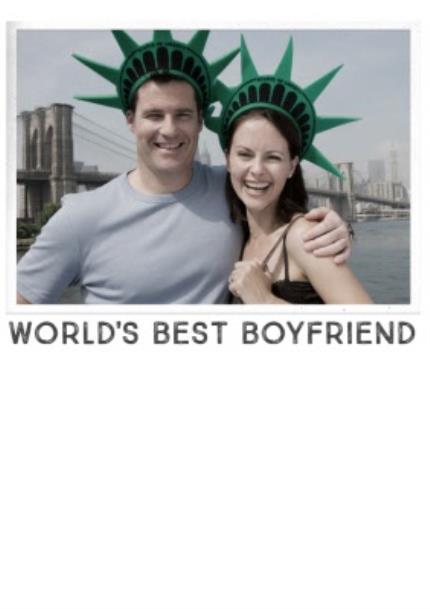 T-Shirts - World's Best Boyfriend Photo Upload T-Shirt - Image 4