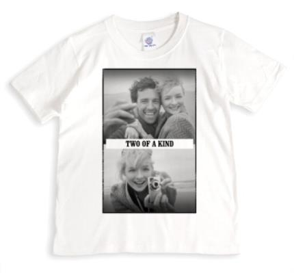 T-Shirts - Two of a Kind Photo Upload T-Shirt - Image 1