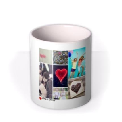Mugs - Romantic Collage Photo Upload Mug - Image 3